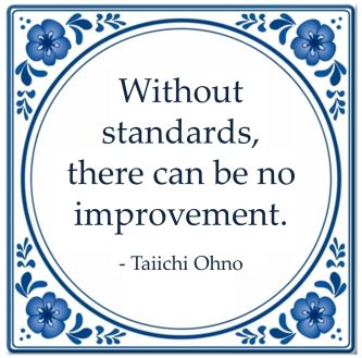 without standards improvement taiichi ohno